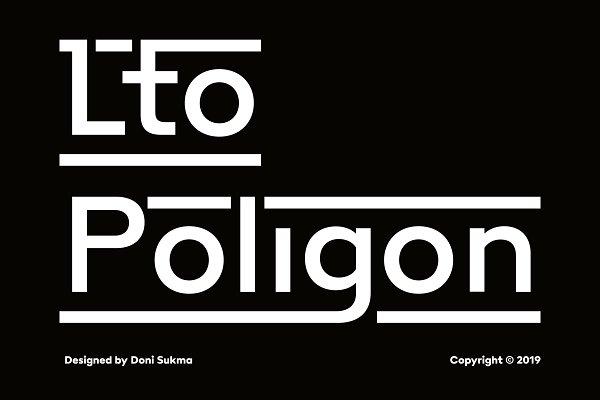 Poligon a Quirky Typeface 70% OFF