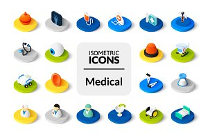 Isometric icons - Medical