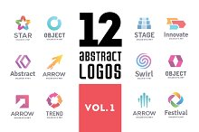 Set of abstract logos vol. 1