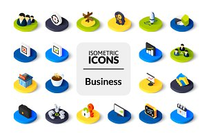 Isometric icons - Business