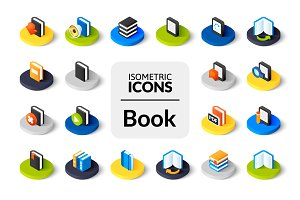 Isometric icons - Book