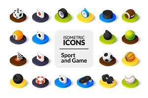 Isometric icons - Sport and Game