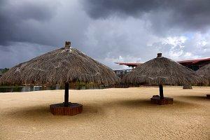 Storm closes beach