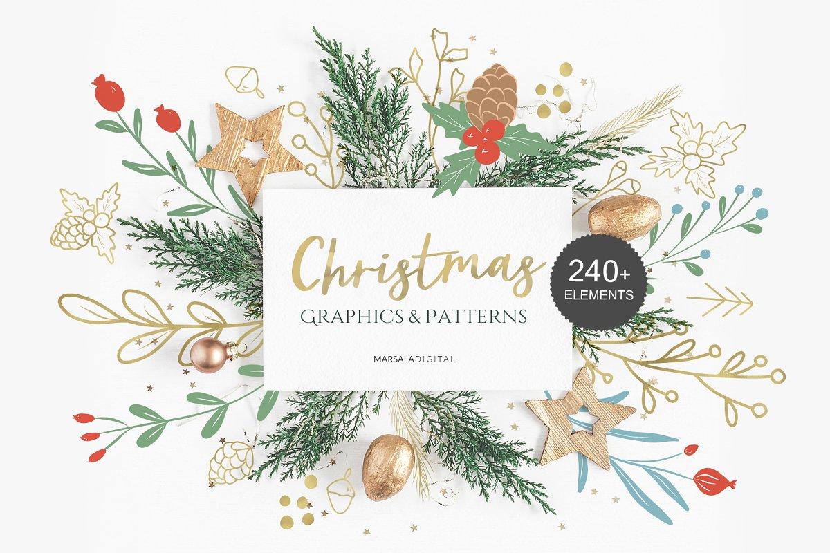 Christmas Graphics.Christmas Graphics Patterns Illustrations Creative Market