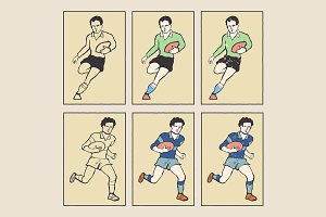 Vintage Style Sports Cards Rugby