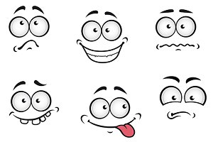 Cartoon emotions faces