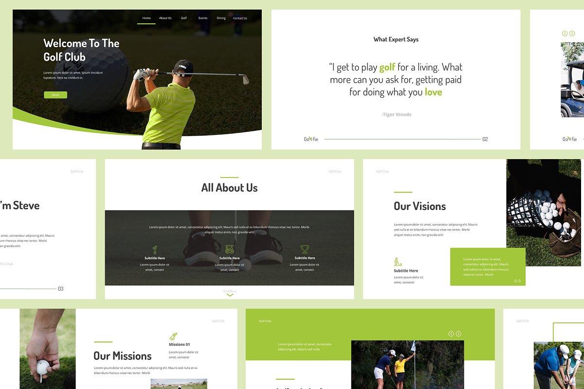 Golfie Golf Powerpoint Presentation Powerpoint Templates