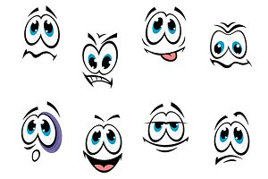 Comics faces set