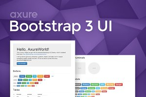 Axure Bootstrap 3 Widget Library