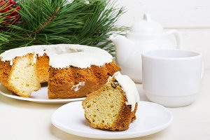 a piece of Christmas cake