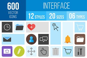600 Interface Icons