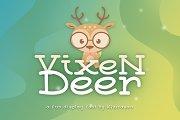 Vixen Deer Font + Vector