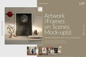 Artwork / Frames on Scenes Mock-ups