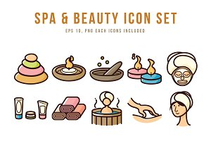 Spa & Beauty Icon Set