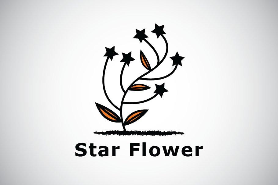 Star Flower Logo Template