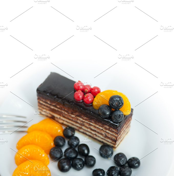 chocolate and fruits cake 007.jpg - Food & Drink
