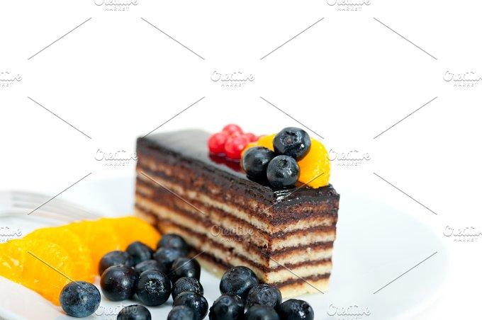 chocolate and fruits cake 001.jpg - Food & Drink