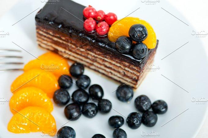 chocolate and fruits cake 006.jpg - Food & Drink