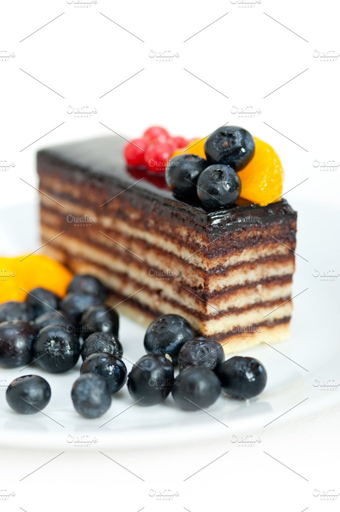 chocolate and fruits cake 003.jpg - Food & Drink