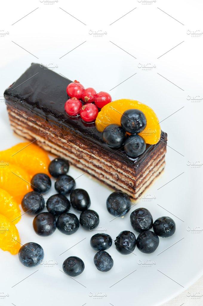 chocolate and fruits cake 008.jpg - Food & Drink