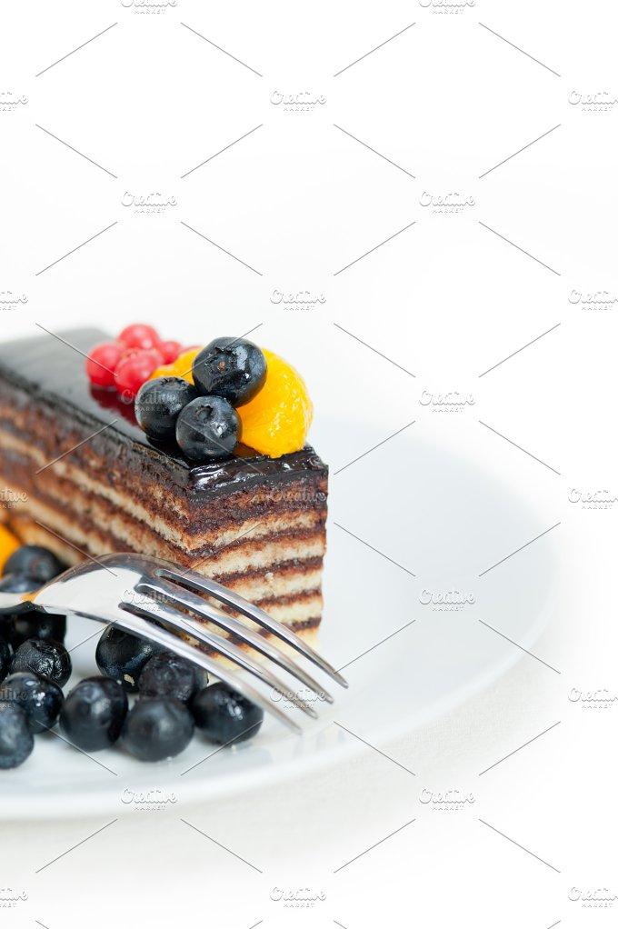 chocolate and fruits cake 012.jpg - Food & Drink