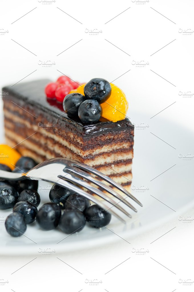 chocolate and fruits cake 011.jpg - Food & Drink