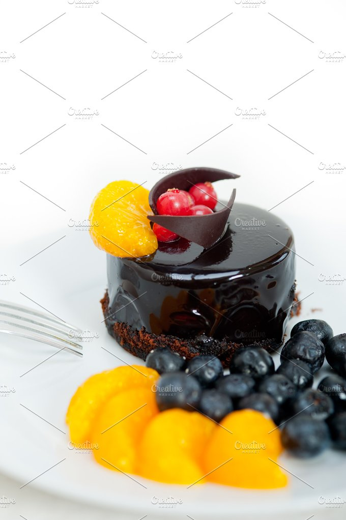 chocolate and fruits cake 015.jpg - Food & Drink