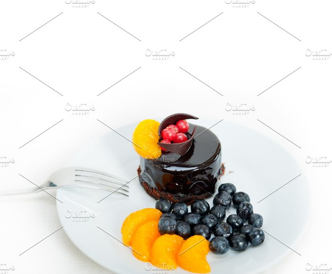 chocolate and fruits cake 021.jpg - Food & Drink