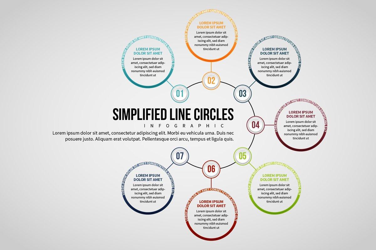 Line Circles Infographic 7