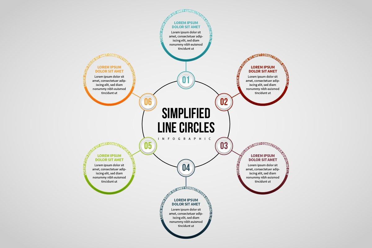 Line Circles Infographic 6