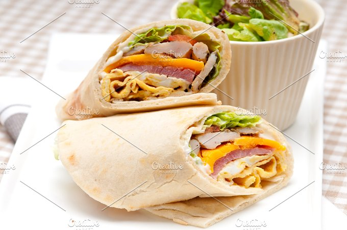 club pita wrap sandwich 01.jpg - Food & Drink