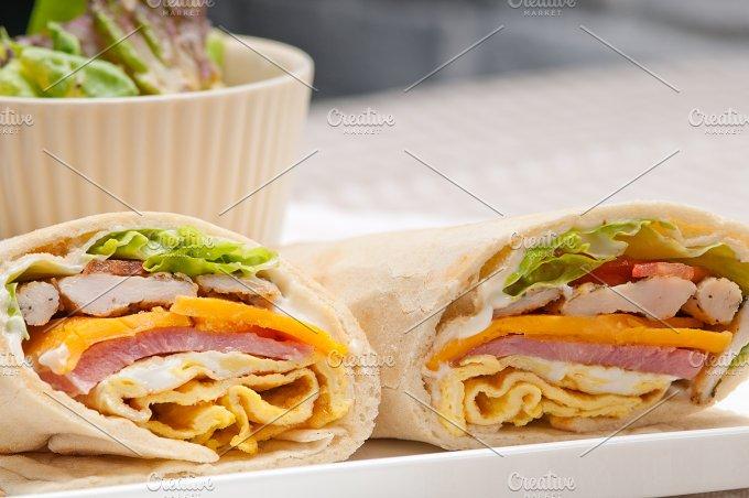 club pita wrap sandwich 16.jpg - Food & Drink