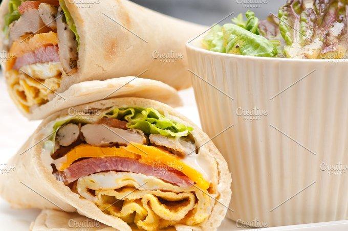 club pita wrap sandwich 11.jpg - Food & Drink