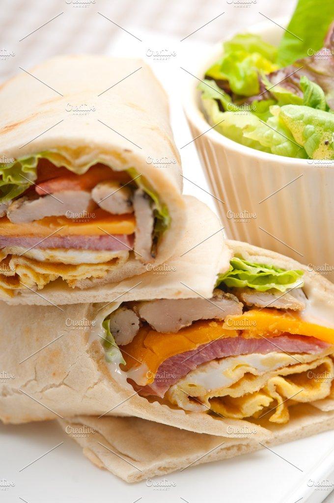 club pita wrap sandwich 10.jpg - Food & Drink