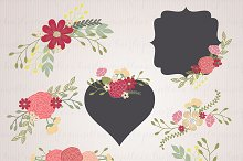 Wedding Floral Wreath Clip Art