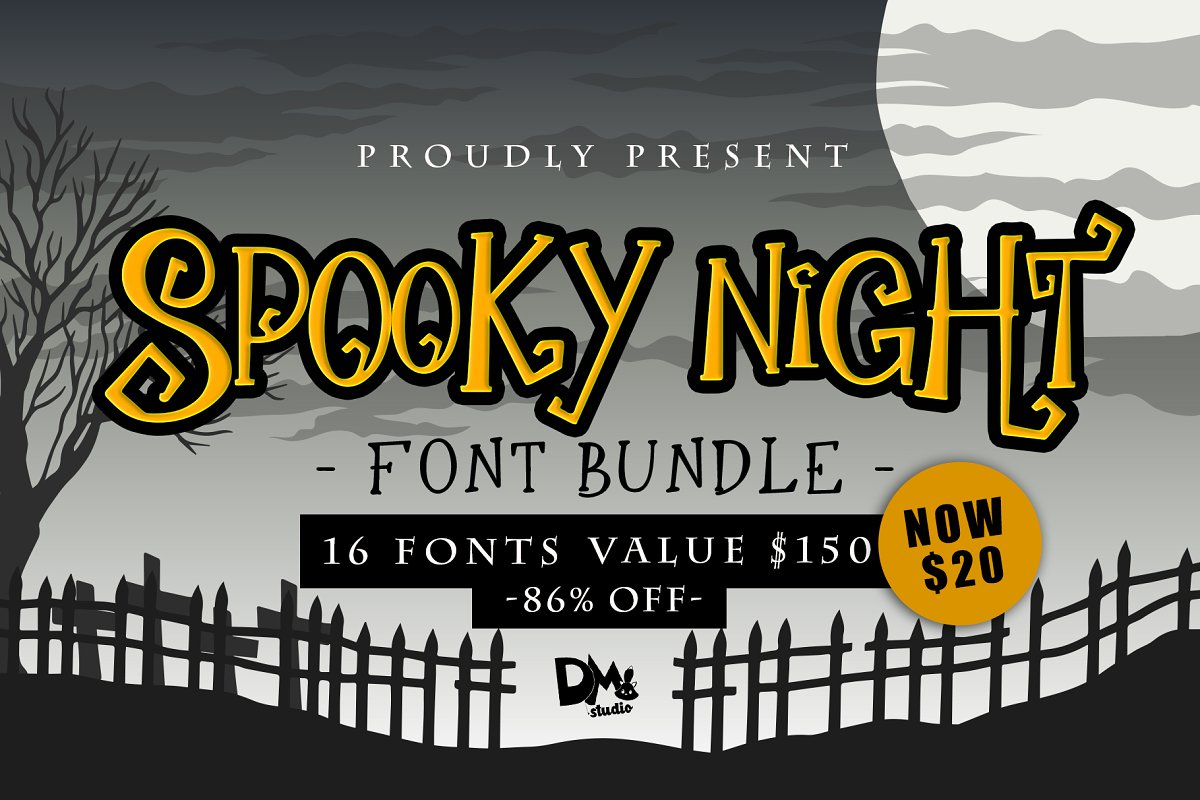 86% OFF Spooky Night-Halloween Font