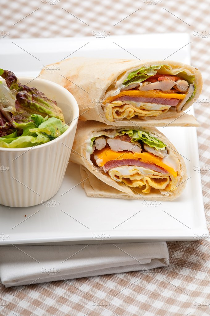 club pita wrap sandwich 29.jpg - Food & Drink