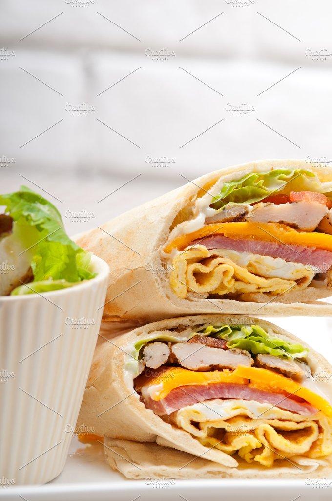club pita wrap sandwich 30.jpg - Food & Drink