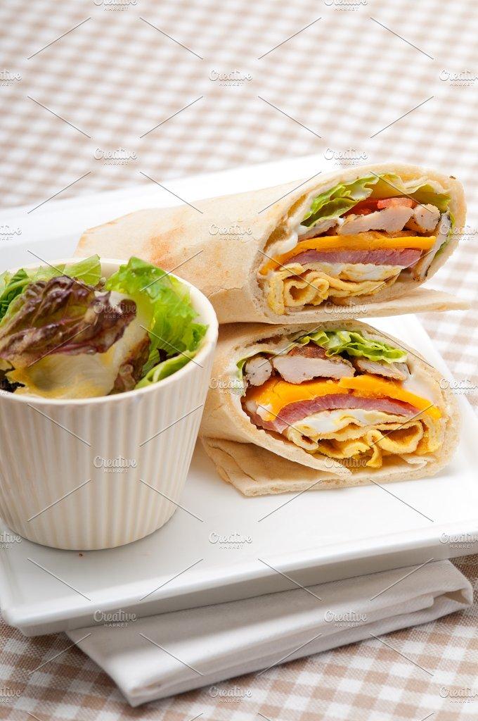 club pita wrap sandwich 36.jpg - Food & Drink