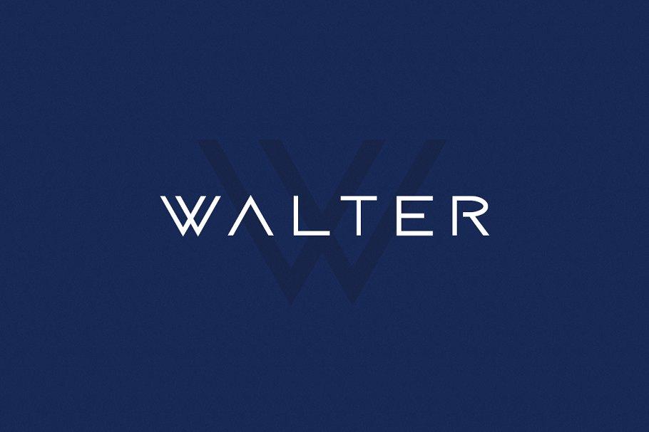 WALTER - Modern / Sci-Fi Typeface