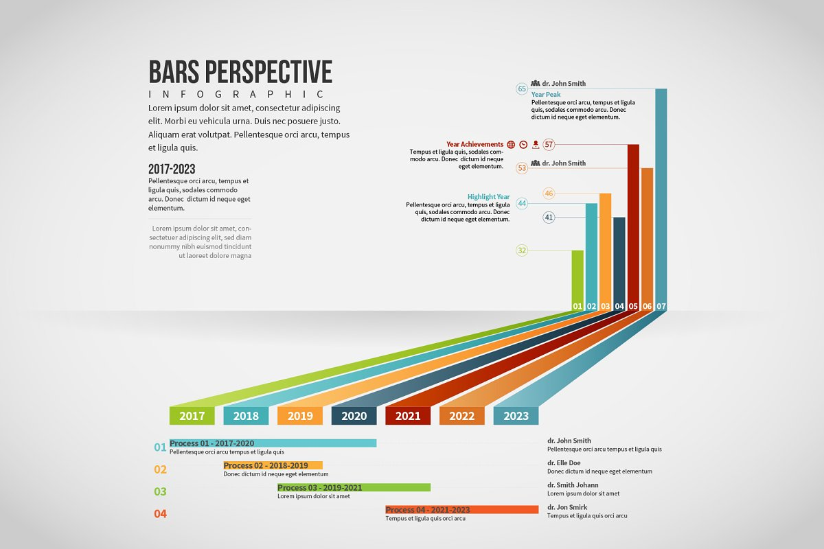 Bars Perspective Infographic