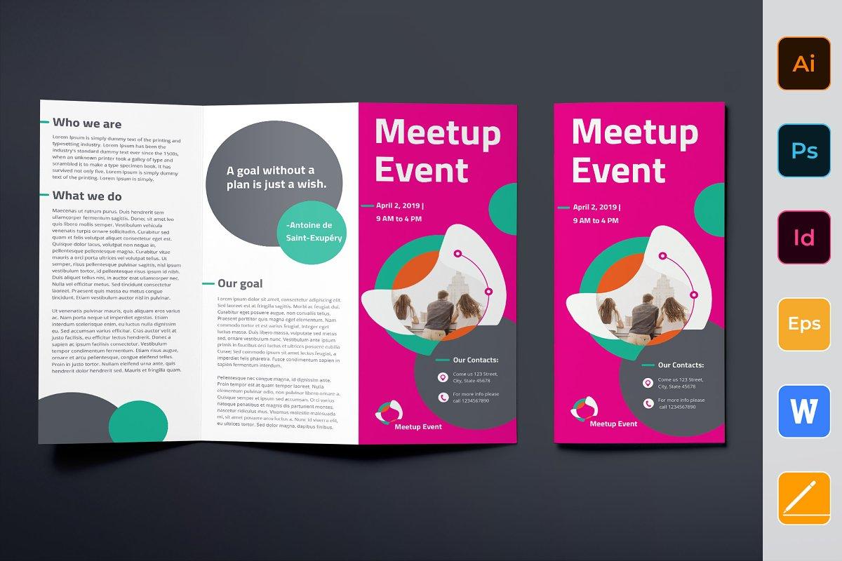 Meetup Event Brochure Trifold