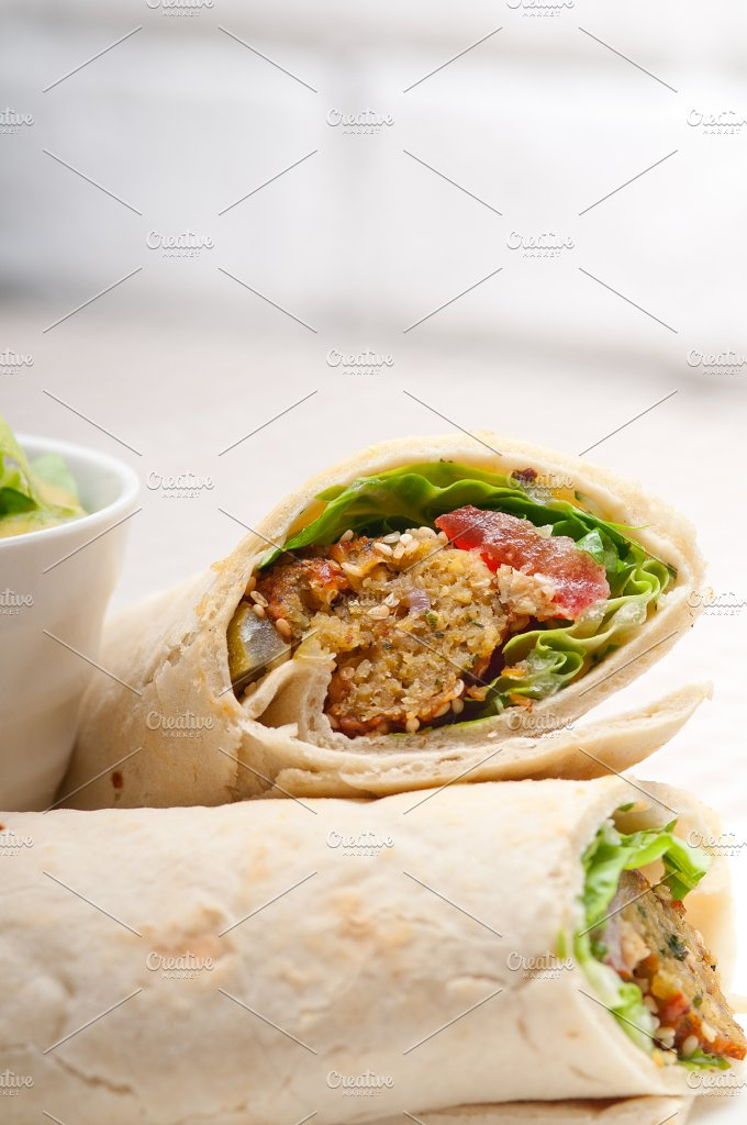 falafel pita wrap sandwich 17.jpg - Food & Drink