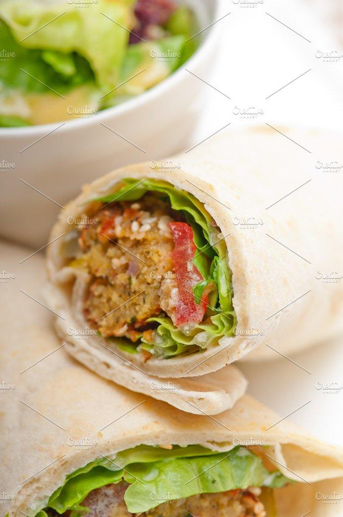 falafel pita wrap sandwich 16.jpg - Food & Drink
