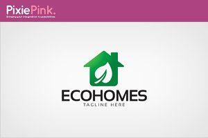 Eco Homes Logo Template