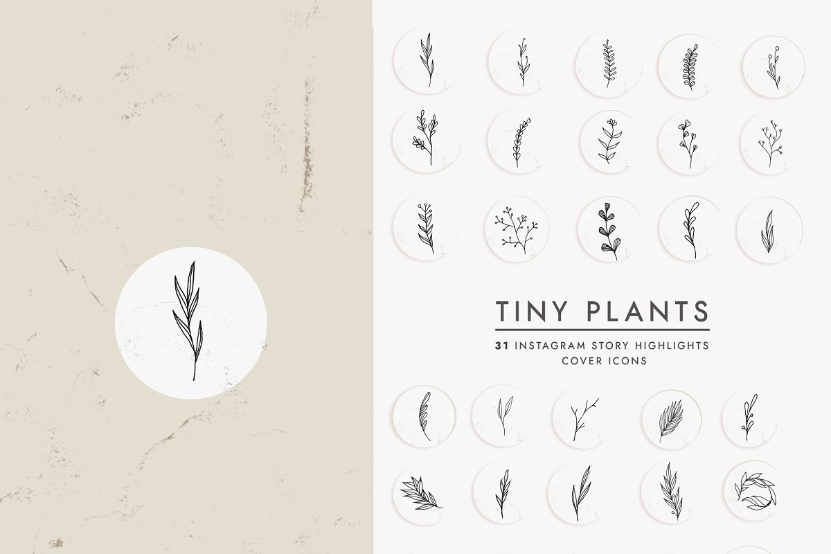 31 Floral Instagram Highlight Icons