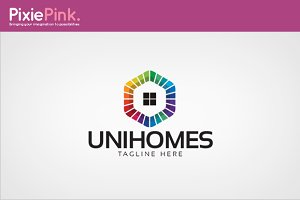 Uni Homes Logo Template