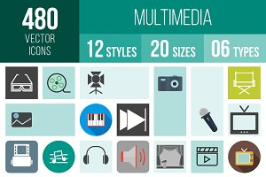 480 Multimedia Icons