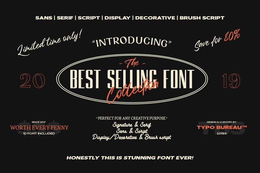 80% | Best selling font collection
