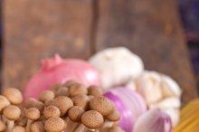 Italian pasta and mushrooms sauce ingredients 006.jpg